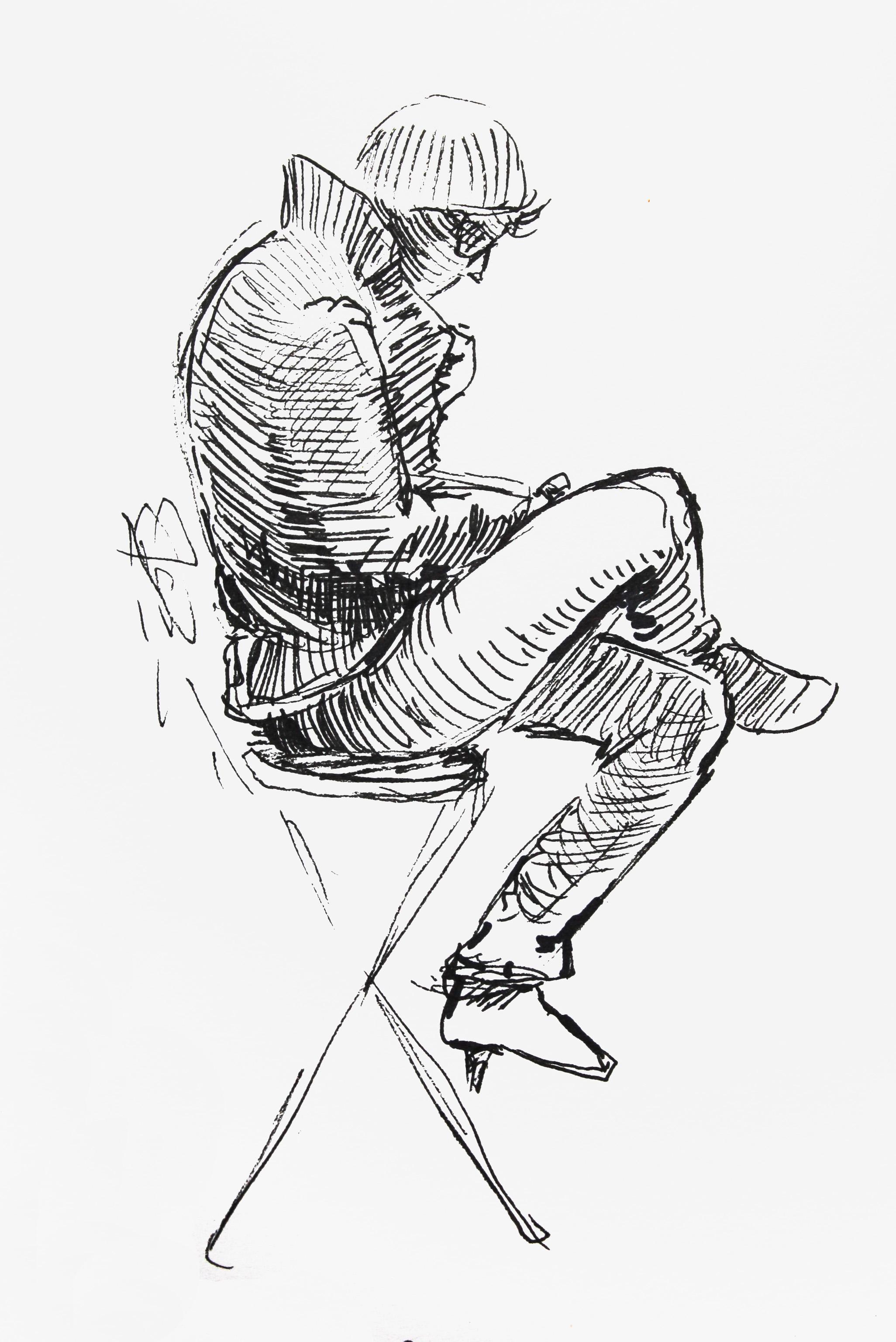 Sitting classmate
