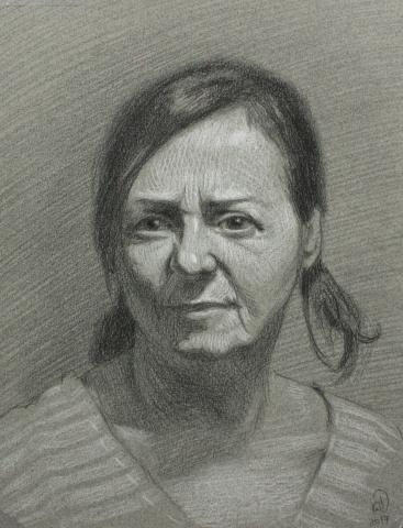 portrait, pencil, drawing,