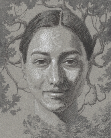 nature woman peace drawing ink buy original art canada