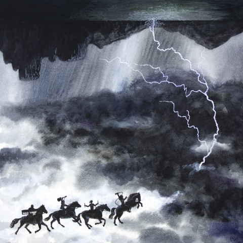 Riders on the storm illustration of the song by the doors jim morrison