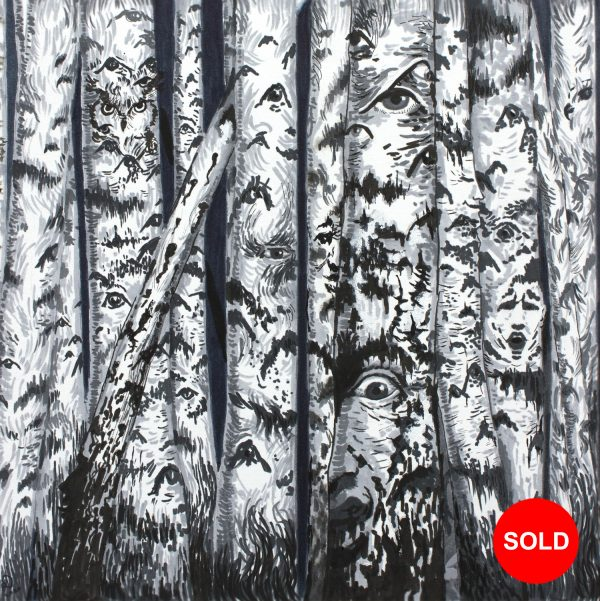 Haunted Birch Forest SOLD
