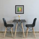 Autumn Wave Framed Green Mat In Dining Room