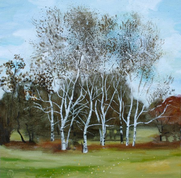 November Birches Oil Painting Landscape