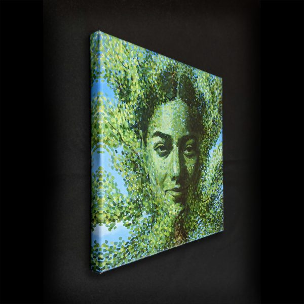 Mother Nature Canvas Print in Room Dark