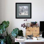 Winter Forest Folk Framed Painting in Room