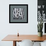 Haunted Birch Forest 3 Framed In Room